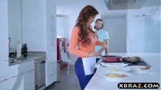 Big boobs mom fuck forced in kitchen 100%