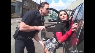 Brunette Ass Fucked By Horny Cop First Time
