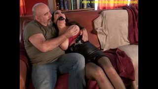 busty Jewell tied up and huge boobs manhandled