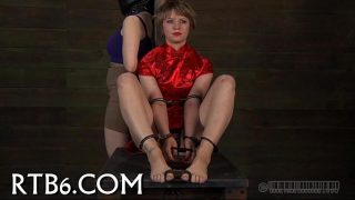 Hung up hottie is punished