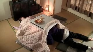Japanese Mom And Son Diving In Living Room