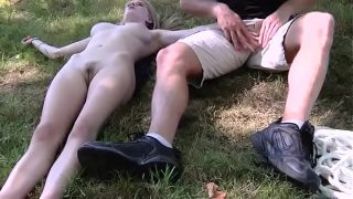 Man on a walk finds a blonde pussy on the way and fucks hard