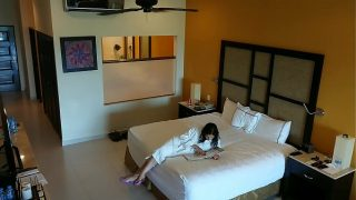 Teen woman m., to fuck and creampied against her will by hotel room intruder spy cam scene POV hindi