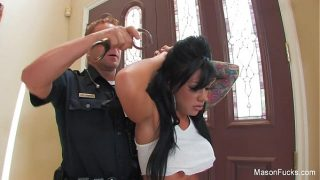 Tight pussy Mason Moore Gets Fucked by new officer